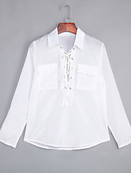 Women's Sexy Chalaza Shirt Collar Long Sleeve Casual Loose Shirt