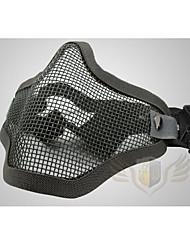 equipamentos de proteção malha de aço nap campo de máscara de meia-face-belt dupla em aço máscara de malha