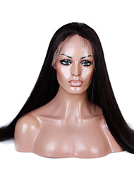 10-26 Zoll 100% menschliches reines Haarspitze Perücke Spitzefront natürliche gerade remy Haarspitze Perücke-glueless mit dem Babyhaar