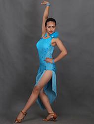 RobesFibre de LaitFemme Cristaux/Stras Spectacle Danse latine