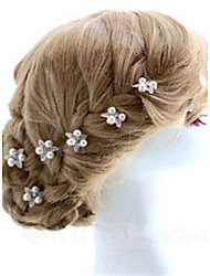 Women's Rhinestone Imitation Pearl Headpiece-Wedding Special Occasion Hair Pin 2 Pieces