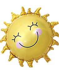 Balões Decoração Para Festas Sol alumínio Amarelo Para Meninos Para Meninas 5 a 7 Anos