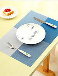 New Fashion PVC Dining Table Placemat Europe Style Kitchen Tool Tableware Pad Coaster Coffee Tea Place Mat