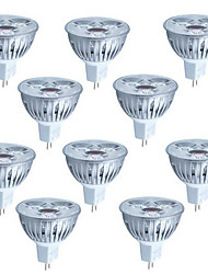 10pcs 3W luz MR16 260lm lâmpada LED local (12v)