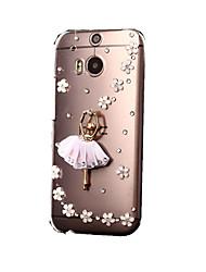 Для Кейс для HTC Стразы / Прозрачный Кейс для Задняя крышка Кейс для Сияние и блеск Твердый PC HTC