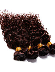 "4 Pcs Lot 12""-30"" Brazilian Deep Curl Virgin Hair Wefts Dark Brown Remy Human Hair Weave Tangle Free"