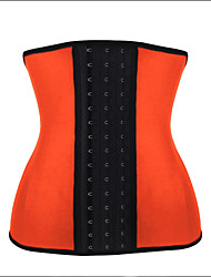 Burvogue Women's 4 Steel Boned 3 Hook & Eye Inner Latex Shaper Waist Training Corset