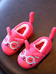 Girl's Slippers & Flip-Flops Spring Fall Winter Comfort Leatherette Casual Flat Heel Black Blue Fuchsia