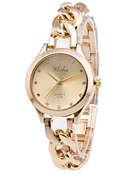 Женские Модные часы Наручные часы Кварцевый сплав Группа Люкс Золотистый