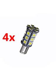 4x super lumineux BA15s blancs signal lumineux arrière tour 1156 voiture 24 LED SMD ampoule 12v
