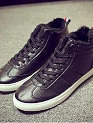 Men's Sneakers Comfort Microfibre Casual Black White