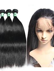 4 Pièces Droit (Straight) Tissages de cheveux humains Cheveux Brésiliens 375g-410g 8-20inch Extensions de cheveux humains