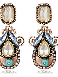 Drop Earrings Gemstone Alloy Drop Jewelry For Party 1 pair