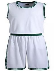 Толстовка Верхняя часть(Белый Зелёный) -Муж.-Баскетбол Бег-Короткие рукава