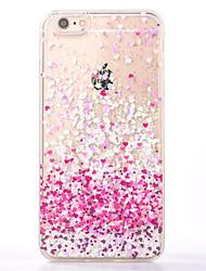Pour Liquide Coque Coque Arrière Coque Cœur Flexible PUT pour Apple iPhone 7 Plus / iPhone 7 / iPhone 6s Plus/6 Plus / iPhone 6s/6