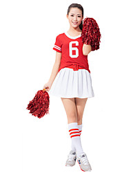 Cheering Squad Costumes Solid Top / Belt / Skirt