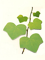 Simulation Leaves Scrapbooking 45 Pages Self-Stick Note(Green)