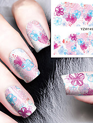 1pcs Water Color Flower Pattern Watermark  Nail Stickers Nail Art Design
