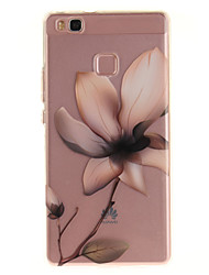 Para huawei p9 lite p8 lite tpu material imd processo magnolia padrão telefone caso para y6ii aproveite 5 honra 8