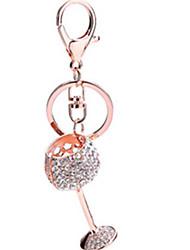Key Chain Cup Key Chain / Diamond / Gleam White / Pink / Purple Metal