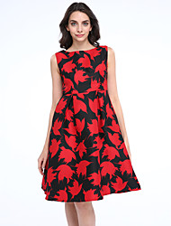 MAXLINDY  Women's Vintage Going out / Party/ Sophisticated Swing Pin up Dress