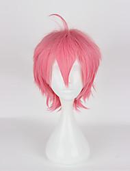 Cosplay Wigs Cosplay Cosplay Pink Short Anime Cosplay Wigs 35cm CM Heat Resistant Fiber Female
