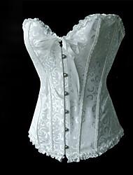 Costumes de Cosplay Fête / Célébration Déguisement d'Halloween Blanc Corset Féminin Coton Térylène