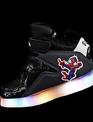 Da ragazzo scarpe da ginnastica Comoda PU (Poliuretano) Inverno Sportivo Comoda Lacci LED Piatto Bianco Grigio Rosso Royal Blue Piatto