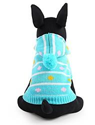 Hunde Pullover Blau / Rosa Hundekleidung Winter Streifen Niedlich / Modisch / warm halten