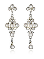 Stud Earrings Pearl Alloy Jewelry Wedding Party 1 pair