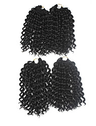 Jerry Curl Pre-loop Crochet Braids Dark Brown Hair Braids 9Inch Kanekalon 1 Package For Full Head 170g Hair Extensions