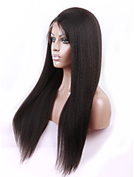 8A Italian Yaki Full Lace Human Hair Wigs For Black Women Brazilian Full Lace Hair Wig 10-24 Yaki Human Hair Wigs