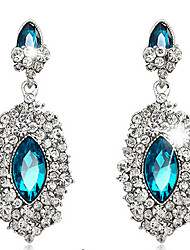 Drop Earrings Sapphire Crystal Simulated Diamond Drop Royal Blue Jewelry Wedding Party Daily 1 pair
