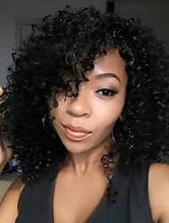 Short Black Color Synthetic Wigs Natural Curly Cheap Wig