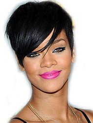 оптовые продажи машина сделала каре парик виргинские бразильские человеческие волосы ни один шнурок прямой боб парик для чернокожих женщин