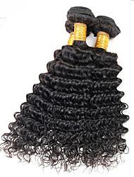 Верхняя часть 3pcs / lot 8-26inch перуанские волосы перлы глубокой волны естественные черные человеческие сплетенные горячие сбывания.