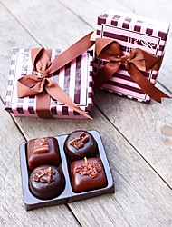 4pcs Handmade Chocolate Tealight Candles in Elegant Gift Box Beter Gifts® Christmas Day Party Gifts Inspirations