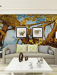 JAMMORY 3D Wallpaper For Home Contemporary Wall Covering Canvas Material Painting TreeXL XXL XXXL