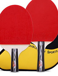 Ping Pang/Table Tennis Rackets Ping Pang Wood Long Handle Pimples 1 Racket 1 Table Tennis Bag