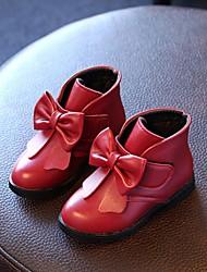 Girls' Boots Fall Winter Comfort Leatherette Casual Flat Heel