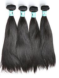 Tissages de cheveux humains Cheveux Péruviens Droit 4 Pièces tissages de cheveux