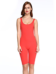 Women's Solid Backless Slim Sport Over Hip Jumpsuits,Simple / Active U Neck Sleeveless