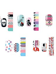 14PCS Lovely Cartoon Style Nail Art Stricker D Series NO.1-5(Assorted Pattern)