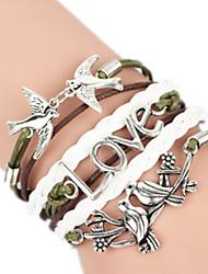 Feminino Bracelete Liga Moda Confeccionada à Mão Amor Jóias 1peça