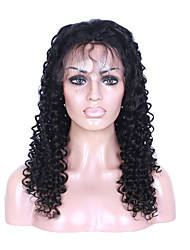 7A Glueless Front Lace Human Hair Wigs Brazilian Kinky Curly Front Lace Wigs Lace Front Human Hair Small Curl Wigs For Black Women