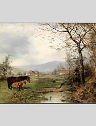 Pintados à mão Abstrato Animal Pinturas Óleo Prints +,Moderno Pastoril 1 Painel Tela Pintura a Óleo For Decoração para casa