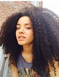 """6a 100% unverarbeitetes mongolischen verworrene lockige Haarspitze-Frontseitenperücken Afro verworren lockigen Perücken 8 """"-24"""" 120%"""