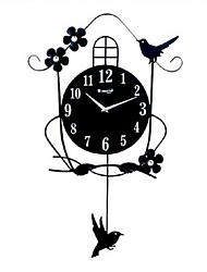 T-MEID Modern/Contemporary / Traditional / Casual / Retro / Office/Business Holiday / Houses / Family Wall ClockNovelty / Others Glass / Iron 20