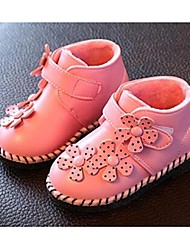 Baby Girl's Boots Comfort Leatherette Casual Pink Red White
