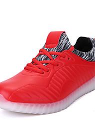 Homme-Extérieure Décontracté-Noir RougeConfort Light Up Chaussures-Baskets-Synthétique